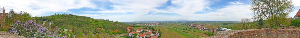 Panoramablick von Burg Neuleiningen aus