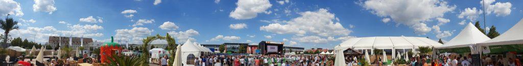 Die Südpfalz-Arena mit City Beach auf dem neuen Messegelände in Landau in der Pfalz