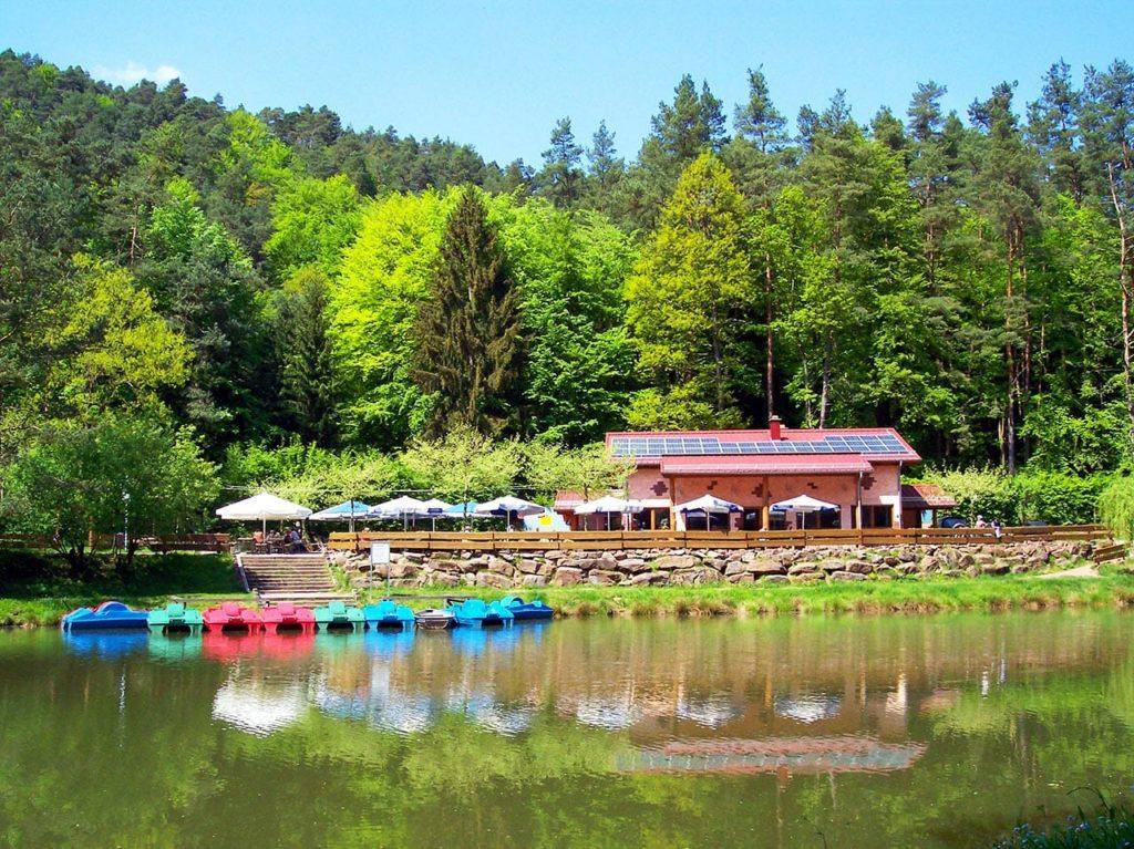 Paddelweiher in Hauenstein in der Pfalz