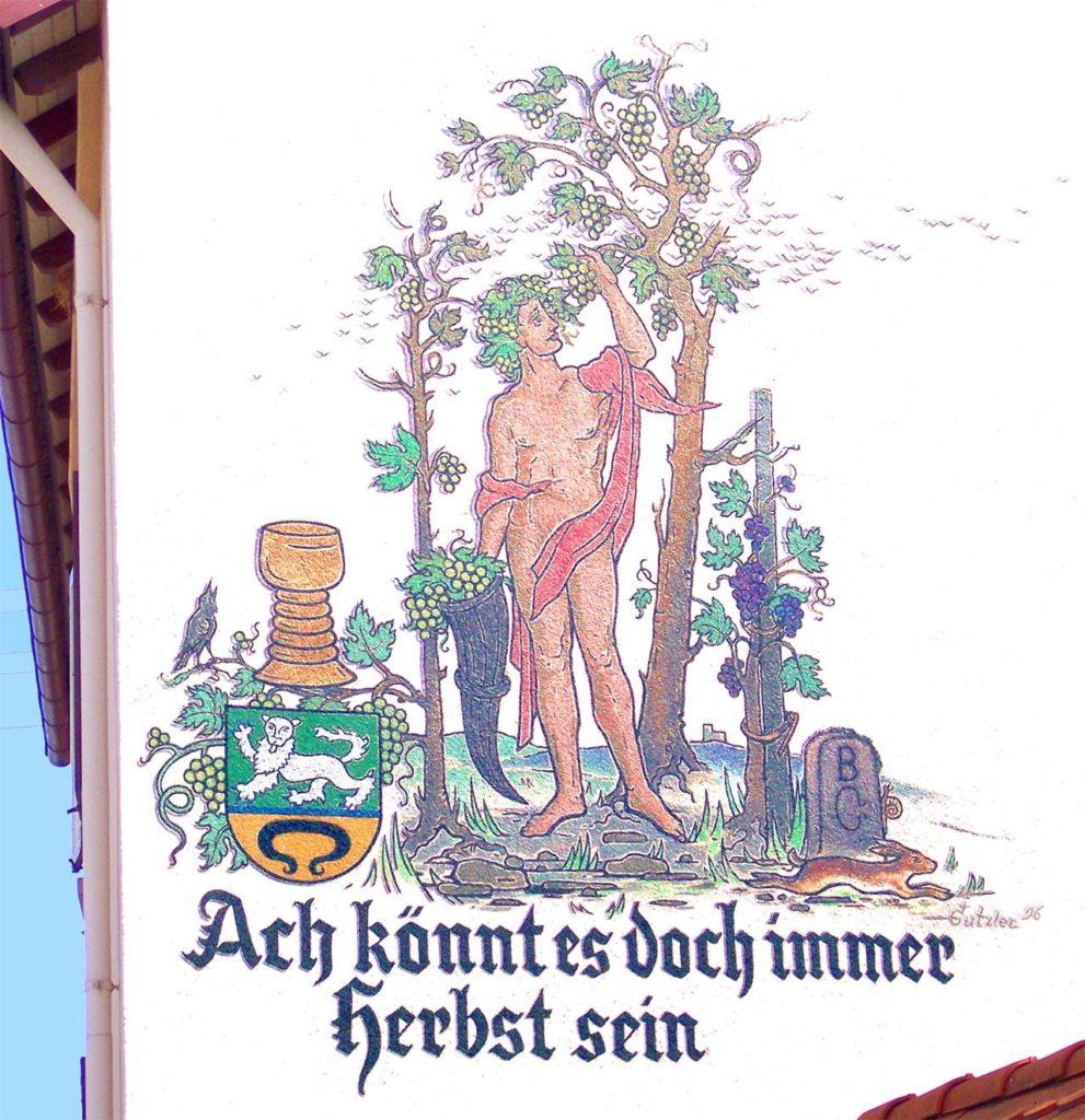 Böchingen, Hauswandmalerei