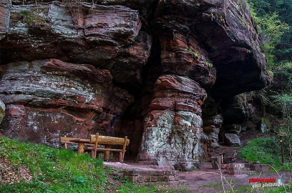 Der Kuhfelsen auf dem Rodalber Felsenweg