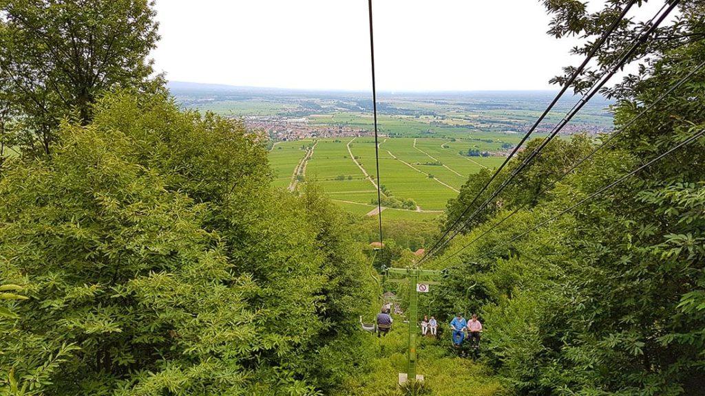 Die Rietburgbahn in Edenkoben in der Pfalz