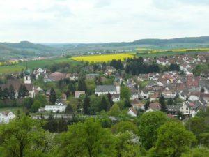 Blick über Winnweiler in der Pfalz